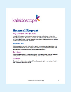 Kaleidoscope Annual Report Cover Preview w Border